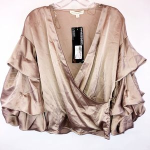 Hot & Delicious bubble sleeve blouse